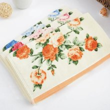 1PCE 32*72cm Printed Flower Cotton Terry Hand Towels,Pattern Floral Face Bathroom Hand Towels for Adults,Toallas Algodon(China)