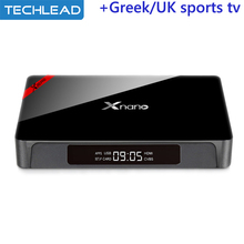With Iview hd iptv package Arabic European sports channels UK Greek Germany Italy TV list Android 6.0 TV Box 4K X96 pro 2GB 16GB