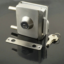 High Quality Qrignal Best Selling Stainless Steel Glass Door Lock With Keys KF315(China)