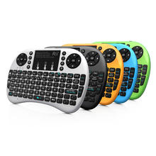 Rii i8+ 2.4G Mini Wireless Keyboard with Backlit Backlight Multi-touch Touchpad US Layout Handheld for Andriod TV Box HTPC Pad(China)
