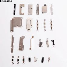 24Pcs/Set Inner Accessories Inside Small Metal Parts For iPhone 6 Plus 5.5 Holder Bracket Shield Plate Set Kit(China)