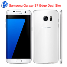 "Unlocked Original Samsung Galaxy S7 Edge Dual Sim Duos G9350 4G LTE Android Mobile Phone Quad Core 5.5"" 12MP RAM 4GB ROM 32GB(China)"