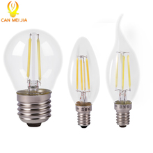 Vintage Edison Led Candle Lights Bulb 220V LED Filament Bulb Lamp E27 E14 C35 g45 Style 2W 4W COB Energy Saving Lamps for Decor(China)