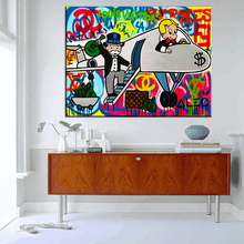 drivers for Alec monopoly Graffiti art print canvas for wall art decoration oil painting wall painting picture No framed