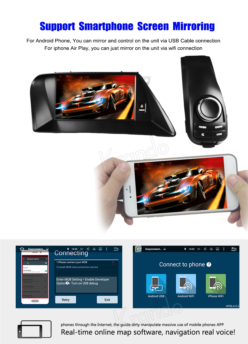 Krando Android car radio gps navigation multimedia system for lexus rx270