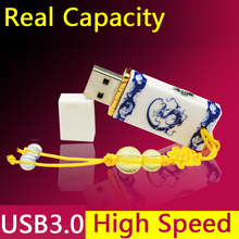 High Speed Pendrive 3.0 Fashion Ceramic Usb Flash Drive 3.0 Gift Pen Drive 512GB 64GB 32GB 128GB Real Capacity+1year Warranty(China)