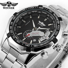 Relogio Masculino Winer Watches Auto Date Stainless Steel Mechanical Watches Men Automatic Watches Male Atmos Clocks