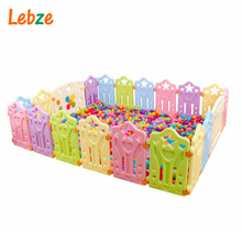 Baby Playpens Children Plastic Fence Colorful Kids Play Yard Educational Safety Barriers Indoor Game Playground For Baby(China)