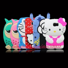 For Samsung Galaxy S6 G920 HOT 3D Silicon Unicorn Owl Hello Kitty Stitch Flower Minnie Cartoon Soft Cell Phone Back Cover Case