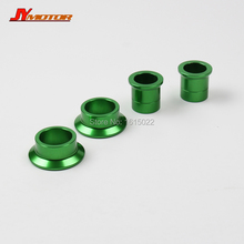 GREEN CNC Billet Front & Rear Wheel Hub Spacers Fit Kawasaki KX125 KX250 KXF250 KXF450 Motorcycle Motorcross Dirt Bike Off Road