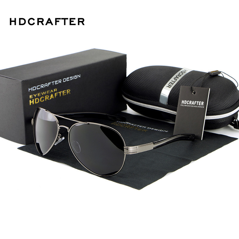 New 2017 HDCRAFTER Fashion Vintage Outdoor Male Driving Car Fishing Gafas Polarized Man Sunglasses Man Brand Designer S9111<br><br>Aliexpress