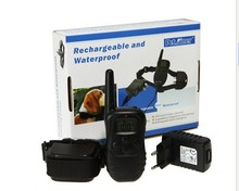 Waterproof Rechargeable Remote Electric Shock Anti-Bark Dog Training Collar LCD Display 998DR