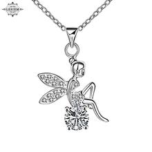 LESIEM  Trendy silver plated    Perfume women pendants Angel wings  angle wing colar vintage margarida