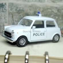 Brand New Cool Mini Cooper 1300 (Police Version) 1/36 Scale Diecast Metal Pull Back Car Model Toy For Children/Gift