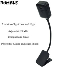 Rumble For Kindle For Kobo EBook Light Boo klight Led Lamp Mini Pocket Book Light Adjustable Clip-on Book Reader Reading Lamp(China)