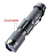 18650 Powerful LED Flashlight 3000 Lumen Cree XM-L T6 LED Portable Zoomable Flashlight Torch Lamp Flash Light 5 Modes Camping