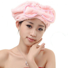 1 Pcs Home Textile Useful Dry Hair Hat Microfiber Hair Turban Quickly Dry Hair Hat Wrapped Towel Bathing Cap