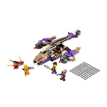 Lepin 310pcs 10321 Anaconda Predators Helicopter Weapon Ninjagoe Thunder Swordsman Building Blocks Bricks Toys Compatible Legoe(China)