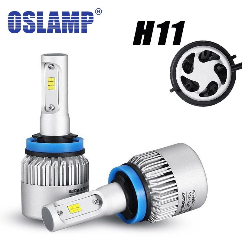 Oslamp 72w/pair H11 360 Degree Lighting Car LED Headlight Bulb 8000lm 6500k 12V 24V LED Front Head Lamp SUV 4x4 4WD<br><br>Aliexpress