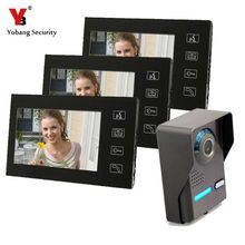 Yobang Security 7 Inch Intercom Door Station with Door Bell Camera Door Phone Intercom System video door phone touch screen