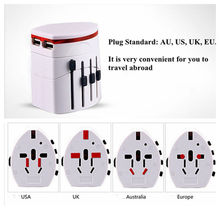 Convinien All in One Universal International Plug Adapter 2 USB Port World Travel AC Power Charger Adaptor with AU US UK EU Plug(China)