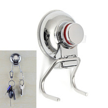 Stainless Steel Removable Suction Cup Hook Strong Sucker Double Wall Hook Bathroom Kitchen Holder Hanger for Towel Robe MAYITR(China)