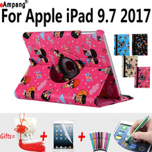 Character Case for Apple iPad 9.7 Cartoon Smart Cover for New iPad 9.7 2017 Protector Fundas Capa with Stand Case for iPad 9.7(China)