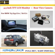 "For BMW X5 E53 E70 / X6 E71 - Car Reverse Rear Camera + 4.3"" TFT LCD Monitor = 2 in 1 Parking System"