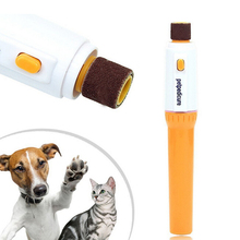 1PC Pedicure Tool Care Automatic Pet Grinder File Electric Pet Dog Puppy Cat Paw Claw Toe Nail Grinder Grooming Trimmer Clipper(China)