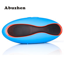Abuzhen Mini Wireless Bluetooth Speaker Sound Box Rugby Portable Audio Player Music for phone PC Subwoofer with TF USB Player