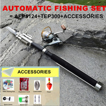 2.1 & 2.4 & 2.7 & 3.0m Automatic Fishing Rod Combo Set Fishing Pole With Reel & Accessories For Lake Pool River Sea Boat Fishing(China)