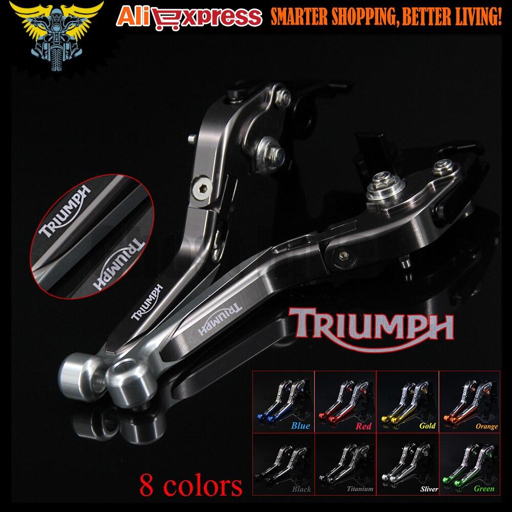 Sliver+Titanium CNC  Adjustable Folding Extendable Motorcycle Brake Clutch Levers For Triumph TIGER 800 XC/XCX/XR/XRX 2015 2016<br>