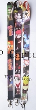 Free Shipping 20 Pcs Popular Japanese Anime Naruto key chains Mobile Phone Neck Straps Keys Camera ID Card Lanyard  T27