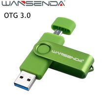 High speed Wansenda 128gb Pen drive 32gb OTG usb 3.0 USB Flash Drive 64gb pendrive 8gb 16gb Usb stick flash drive for smartphone(China)