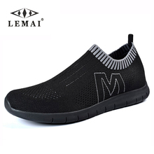LEMAI 2017 Men's Casual Shoes,Men Summer Style Mesh Flats For Men Loafer Creepers Casual Shoes Very comfortable Size:36-44(China)