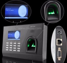 Linux embedded TCP/IP fingerprint time attendance with fingerprint and ID card recognition reader for office school factory