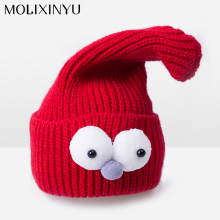 MOLIXINYU Cute! Knit Cotton Winter Hat Baby Beanies Baby Hat Infant Toddler Cap Boy/Girl Warm Baby Cap Children Skullies Beanies(China)