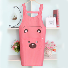 Hot Sale Waterproof Apron Cooking Kitchen Chef Cute Cartoon AProns Men Women With Pockets Antifouling Oil-proof PVC Apron