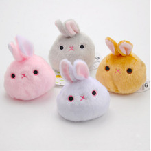 11cm cute New  three British series dumpling dumpling snow bunny rabbit rabbit plush toy doll cherry sandbags small sandbag