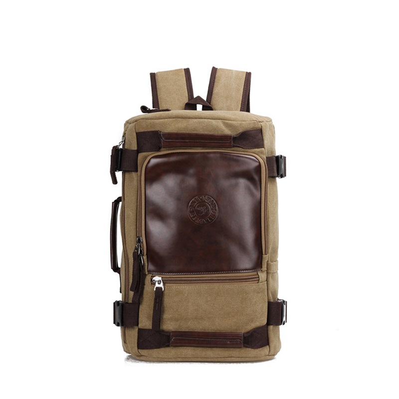 TOP POWER Large Capacity Brand Man Canvas Backpack Multi Function Rucksack Laptop Computer Male Backpack Functional Shoulder Bag<br>