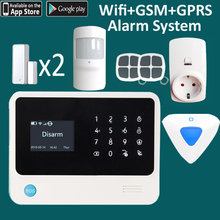 Russian language home wireless wifi gsm gprs alarm system for Russia market