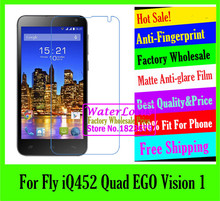 Matte Anti-glare Anti-Fingerprint mobile protective film to phone For Fly iQ452 Quad EGO Vision 1 screen protector de pantalla