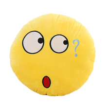 New Novelty Emoji cushion Design Soft Cushion Pillow Gift for Home Car Camping 6