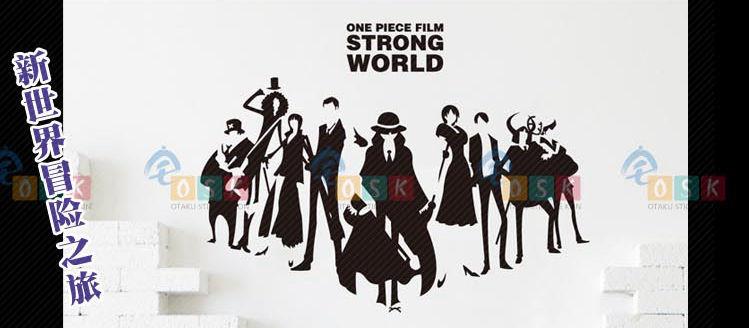 Car Sticker Japanese Cartoon Fans ONE PIECE Eiichiro Oda Vinyl Wall Stickers Decal Decor Home  Decoration 001<br>