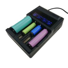 Evewher LCD 18650 Battery Charger 4 Slots Lithium Battery Charger For 26650 18650 14500 AA AAA Charging li ion Batteries Charges(China)