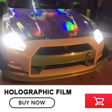 Free shipping Purple holographic chrome rainbow vinyl film car wrap rainbow sticker with size:1.52x20m/Roll
