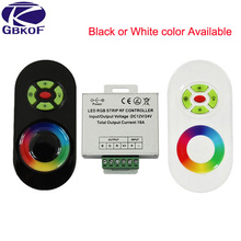 DC 12V-24V Wireless RF Touch Panel Dimmer RGB Remote Controller 18A RGB Controller for 3528 5050 RGB LED Strip Light(China)