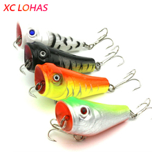 5cm 7.4g Artificial Fishing Lures Top Water Floating Lure Popper with Hooks 3D Fish Eye Poper Fake Lure Bait Hot Sale PO007