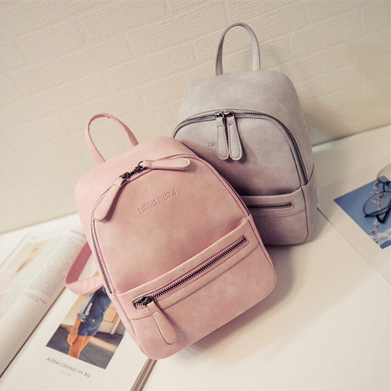 Small Women Bag Backpack School Bags For Teenagers Girl Casual casual travel backpack women leather bag  feminina Herald Fashion<br><br>Aliexpress
