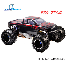 HSP RACING RC CAR SKELETON 94050PRO 1/5 SCALE GAS POWERED 4WD OFF ROAD MONSTER TRUCK HIGH POWER 32CC ENGNE
